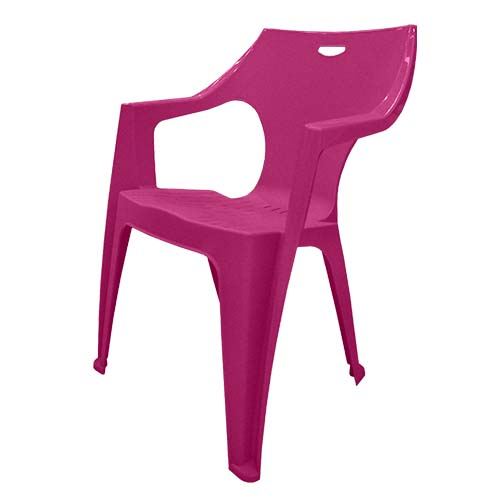 IDEA Description: Monoblock Chair  Color: Berry Code: Kreta