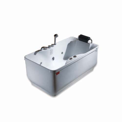 RAVONI Massage Bathtub • 210 L water capacity • 1 person seating capacity • 2 pcs. big whirlpool water massage jet • 6 pcs. water massage jet • 880W water pump • Underwater LED lights • Protection against running without water Code: M1581