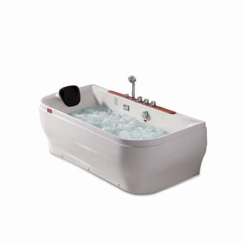 RAVONI Massage Bathtub • 210 L water capacity • 1 person seating capacity • 4 pcs. big whirlpool water massage jet • 10 pcs. water massage jet • 880W water pump • Underwater LED lights • Protection against running without water Size: 1710 x 870 x 600mm Code: M1786