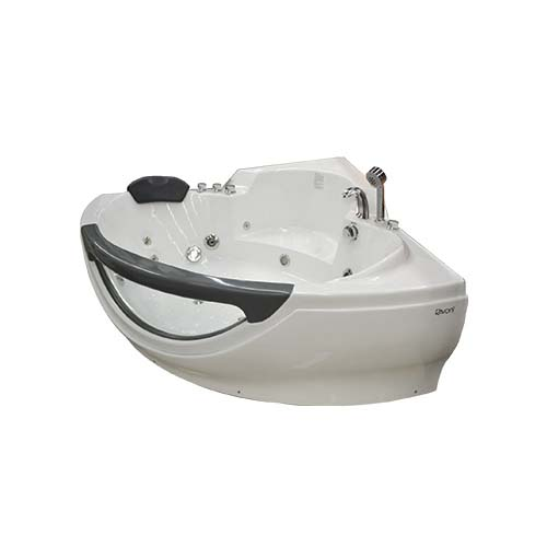 RAVONI Massage Bathtub • 250 L water capacity • 2 persons seating capacity • 4 pcs. big whirlpool water massage jet • 10 pcs. water massage jet • 1100W water pump • Underwater LED lights • Protection against running without water Size: 1500 x 1500 x 720 mm Code: M3150