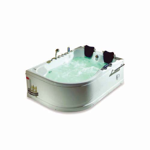 RAVONI Massage Bathtub •Right •270 L water capacity • 2 persons seating capacity • 6 pcs. big whirlpool water massage jet • 6 pcs. water massage jet • 1100W water pump • Underwater LED lights • Protection against running without water Size: 1780 x 1300 x 720 mm