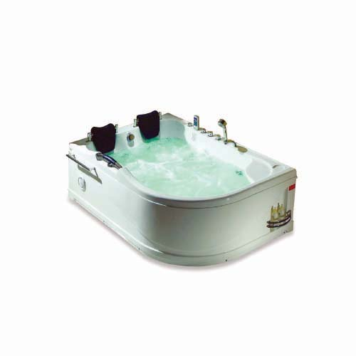 RAVONI Massage Bathtub •Right •270 L water capacity • 2 persons seating capacity • 6 pcs. big whirlpool water massage jet • 6 pcs. water massage jet • 1100W water pump • Underwater LED lights • Protection against running without water Size: 1780 x 1300 x 720mm Code: M1712 (R)