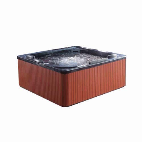 RAVONI Description: Massage Bathtub Size: 2340 x 2140 x 950mm Water capacity: 1260L Seating capacity: 5 persons Code: M3211-D/G