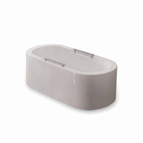 RAVONI Description: Bathtub With drain Size: 1700 x 845 x 600mm Water capacity: 200L Seating capacity: 1 person Color: White Code: SP1889
