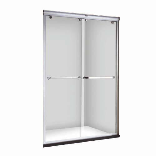 RAVONI Sliding Shower Door • Dual slide shower enclosure • 8 mm tempered glass Size: 1200 x 1900 mm Code: SNDM0507