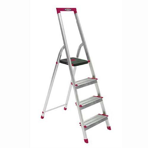 WERNER Step Ladder •4 step • Aluminum • 9.25 ft. reach • 150 kg. load capacity  Code: L234R-5