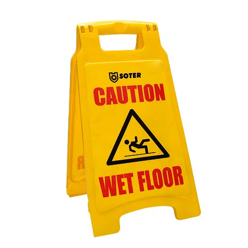 SOTER Description: Caution Board Size: 30 x 62cm Code: S-1631 Also available: 26 x 47cm