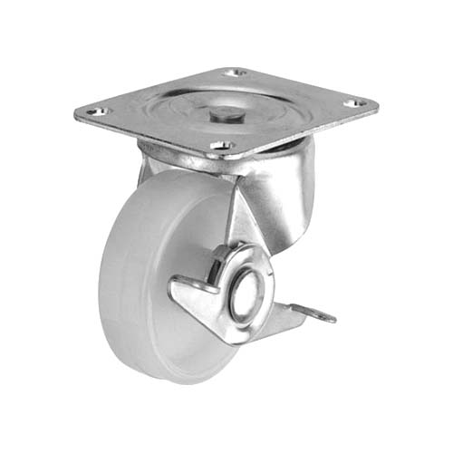 HAUSMANN Description: Swivel Caster With brake Sizes: 1.5, 2, 2.5, 3 Material: Nylon