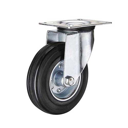 HAUSMANN Description: Swivel Caster Industrial Sizes: 4, 5, 6 Material: Rubber