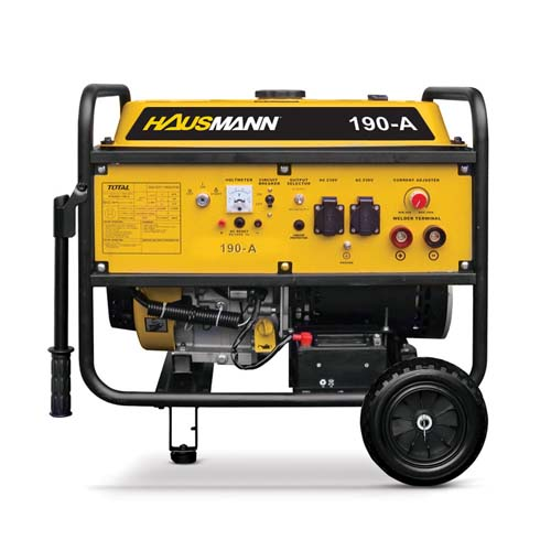HAUSMANN Welding Generator •3500W power • 190A max welding current •60% rated duty cycle Code: 190A