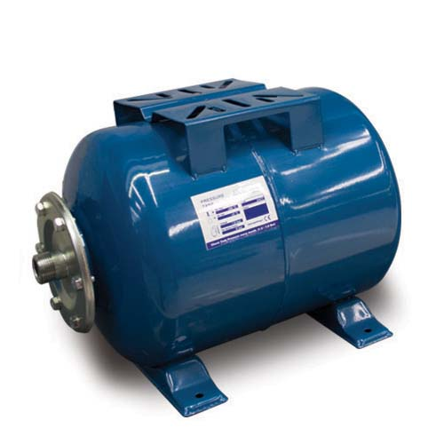 AQUASTRONG Pressure Tank Horizontal • EPDM bladder membrane • 8 bar xax. pressure  • 99°c max liquid temperature  • Usage: - Used with peripheral pumps - Protects pumps from short cycling Available in:  - 36L - 60L