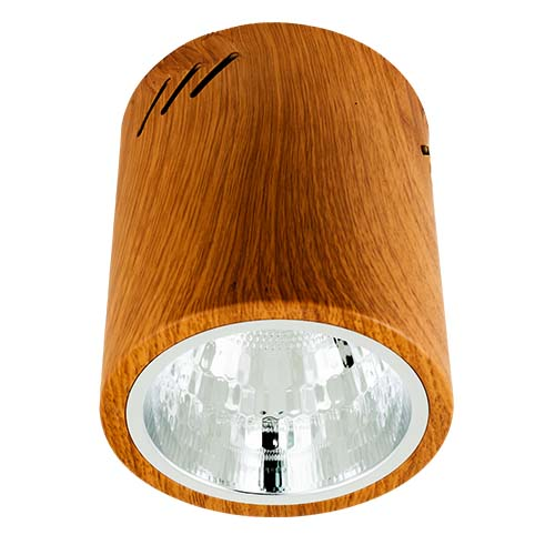 ZIGMA Description: Surfaced Downlight Size: 133mm Socket: E27  Color: Wood Bulb capacity: 1 pc. (not included) Code: XM2841