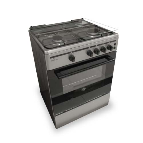 BOSTON BAY Gas Range • 3 burner • 1 hot plate • 60 cm cooktop size • 62.6 L oven capacity • Stainless Steel Code: 603GS
