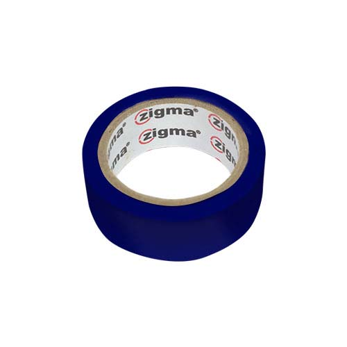 ZIGMA PVC Electrical Tape  • Blue Code: HE7# Available in: • 0.17 mm x 19 mm x 4 m - 0.17 mm 19 mm x 8.0 m
