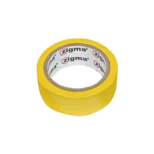 ZIGMA PVC Electrical Tape  • Yellow Code: HE7# Available in: • 0.17 mm x 19 mm x 4 m - 0.17 mm 19 mm x 8.0 m