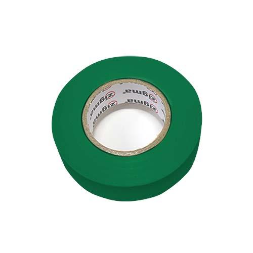 ZIGMA PVC Electrical Tape  • 0.17 mm x 19 mm x 16 m • Green Code: IE7#