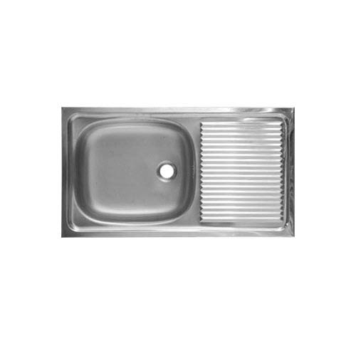 DIAMOND Description: Sink With strainer Material: Stainless steel 304 Thickness: 0.5mm Depth: 158mm Size: 750 x 450mm Available with stand Code: DM072A