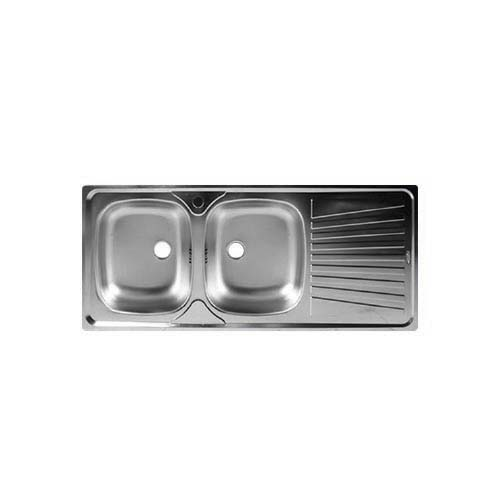 CM Description: Mondial Sink (Right) Material: Stainless steel 304 Thickness: 0.5mm Depth: 150mm Size: 1160 x 500mm Code: 11507 SB/RD