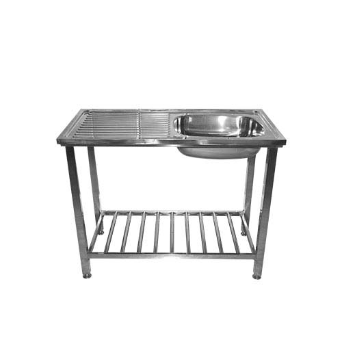 BREMEN Sink • With stand & strainer • Stainless steel 202 • 1000 x 500 x 800mm • 0.8mm stand thickness • 0.6mm sink thickness • 160mm depth Code: 10050FS SB/SD