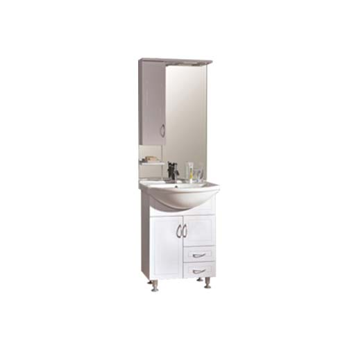 RAVONI Description: Sunny-60 Cabinet with Lavatory Mirror Color: White Cabinet 551 x 315 x 700mm Lavatory 600 x  490mm Mirror cabinet 600 x  170 x 1000mm Item also sold separately