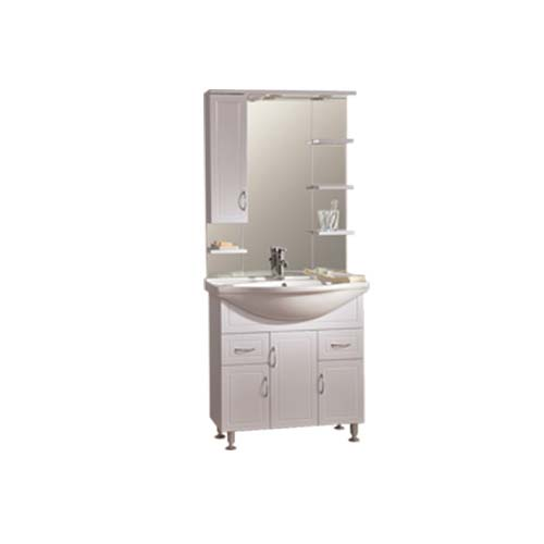 RAVONI Description: Sunny-80 Cabinet with Lavatory Mirror Color: White Cabinet 750 x 320 x 700mm Lavatory 805 x 500mm Mirror cabinet 800 x 170 x 1000mm Item also sold separately