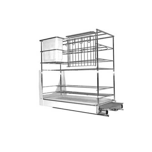 BREMEN Drawer Basket •Multi-function • 230 x 450 x 475mm • Iron steel with chrome finish Code: SL009J