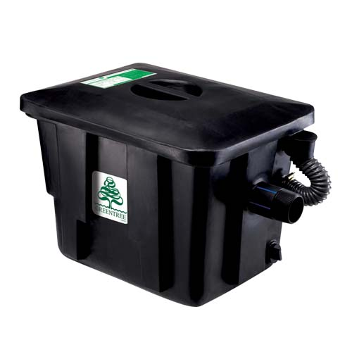 GREEN TREE Description: Grease Trap 3 grease trap compartments Made from recycled material Capacity: 30L Code: GTGT-30