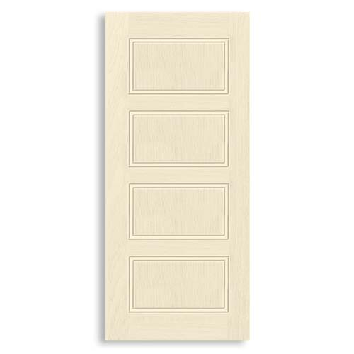 DESIGNCRAFT Moulded Door  • Prime coated finish with MDF woodstrip core • 35 mm thickness • Phitsanulok Sizes:  - 70 x 210 cm - 80 x 210 cm - 90 x 210 cm