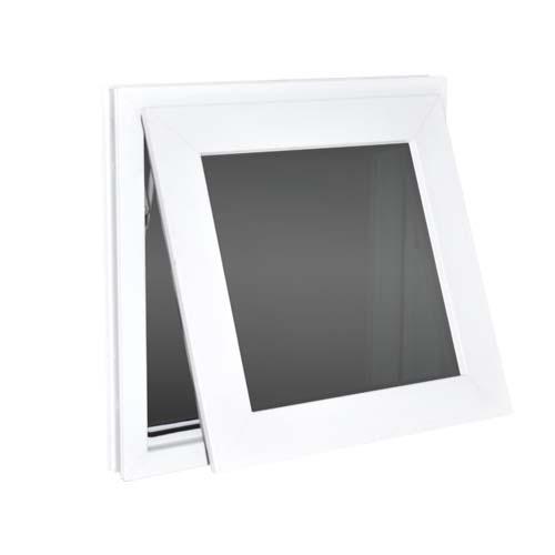 BUENAVISTA UPVC Awning Window • 60 x 60cm • 50% max opening • Hinge/top pivot opening action • Outward & upward opening direction