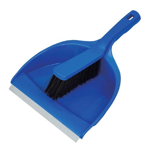 HAPPY HOME Dust Pan with Brush • Plastic Code: 30005615