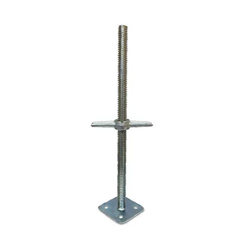 Solid Base Jack • Jack base • Electro galvanized Base size: 34 x 600 mm Plate size: 140 x 140 x 4 mm