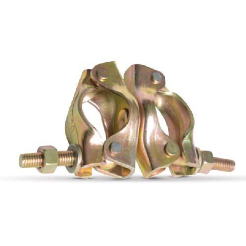Swivel Coupler • Jack base • Electro galvanized • British press  Size: 48.3 x 48.3 x 4.75 mm