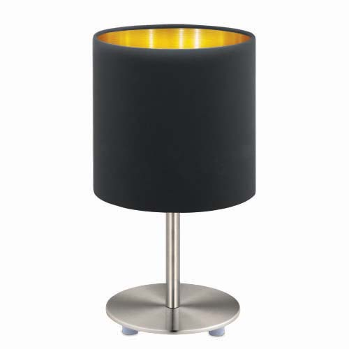 EXOR Table Lamp • Pasteri • Fabric (Black), copper diffuser • Nickel matte • 1 pc. bulb capacity (not included) Code: 95729