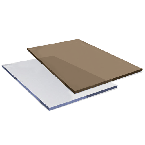 RAVAK Solid Sheet • Polycarbonate Size: 3 x 1220 x 2440 mm Available in: - Bronze - Clear