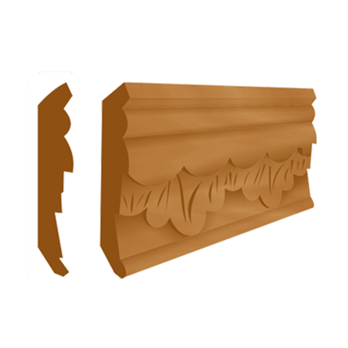 DESIGNCRAFT Moulding  • Carved • Gemilina Size: 70 x 15mm Code: C-303A