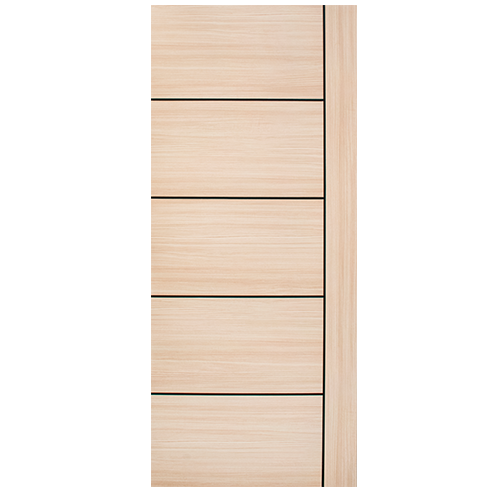 DESIGNCRAFT Flush Door • Melamine film finish with HDF wood strip core • 35 mm thickness • Missouri Sizes: - 80 x 210 cm - 90 x 210 cm