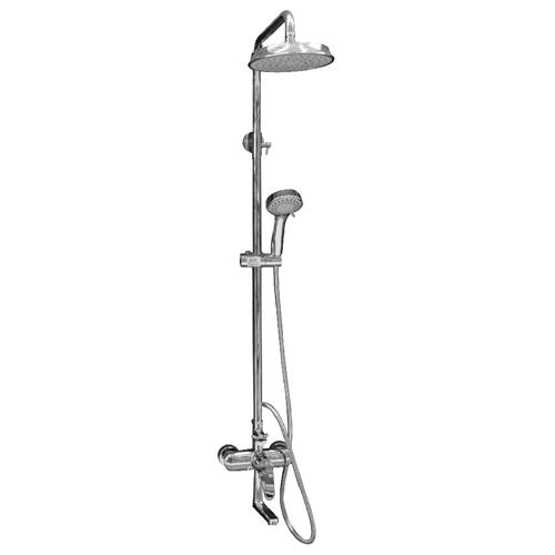 RAVONI Shower Column • Round shape • In-wall single lever bath shower mixer round  Code: 7938C