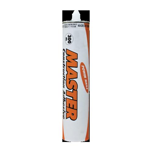 MASTER Liquid Nails Content: 300 cc Hold capacity: 45 kg • Usage: - Wood - Metal - Ceramic tiles - Glass - Board - Plastic - Concrete - Rubber