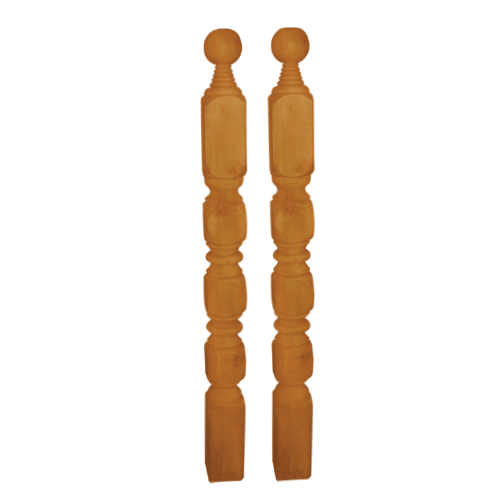 DESIGNCRAFT Baluster Sizes:  - 2 x 2 x 1 in. - 2 x 2 x 2 in. - 2 x 2 x 3 in. - 3 x 3 x 3 in. - 4 x 4 x 4 in Available in: - #1 - #4 - #5