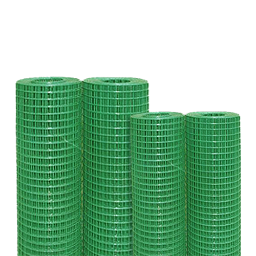 SHIELD Welded Wire Mesh • PVC coated Mesh opening:  - 1/8 in. - 1/4 in. - 3/8 in. - 3/4 in. - 1/2 in.