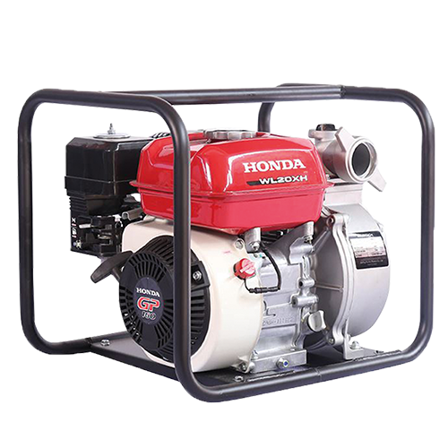 """HONDA Water Pump • 5.5 Hp •  2 x 2"""" inlet/Outlet port diameter • 32m total head left • Over head valve engine type • 670 L/min max discharge capacity • 1.4 L/H fuel consumption • 3.1L fuel tank capacity • 0.58L oil capacity • 24kg dry weight Code: WL20XH DR"""