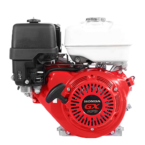 HONDA Engine • 270 cc displacement • 9 Hp gross power • 3600 rpm max engine speed •1800 rpm PTO speed •  6 L fuel tank capacity • For concrete mixer Code: GX270T2 LH