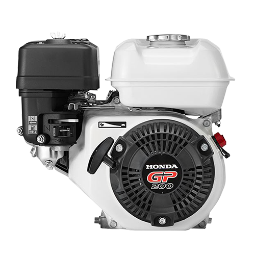 HONDA Engine • 196 cc displacement • 6.5 Hp gross power • 3600 rpm max engine speed • 1800 rpm PTO speed • 3.1 L fuel tank capacity • For concrete mixer Code: GP200H CH1