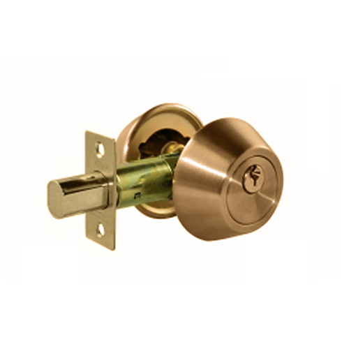 CTX Deadbolt • 3 keys included • Suitable for timber & metal frame doors • Antique brass finish • 35-50 mm fits door thickness Code: 7312AB