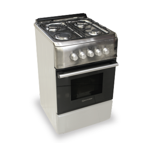 BOSTON BAY Gas Range • 4 burner • With gas oven & stainless grill • 40 L oven capacity Code: 5040-SS