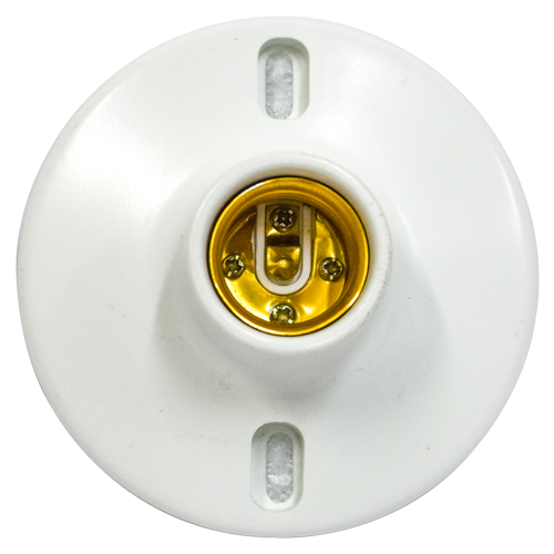 ZIGMA Ceiling Receptacle •Medium series • 6A 250V~ Available in: - 2 in. - 4 in.