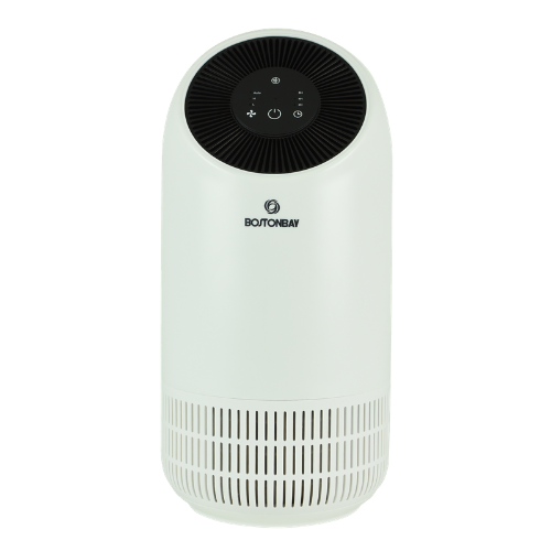 BOSTON BAY Air Purifier  • with HEPA 11 filter •11 sqm coverage area -air delivery: 90m3/h -35 W, 230 V a.c., 60 Hz •UV function which kills bacteria •Ionizer function which cleans the air •Infrared sensor to detect air quality Code: APBI-0520#FILLO