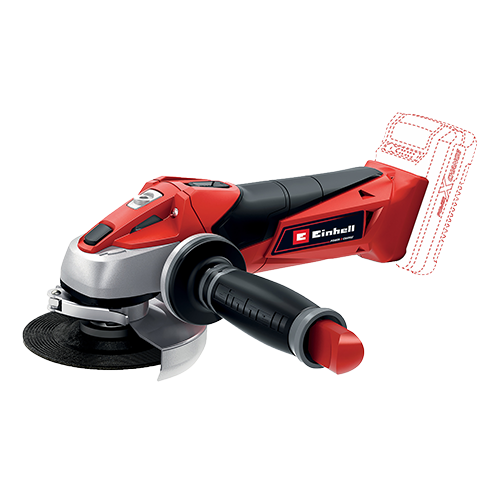 EINHELL Cordless Angle Grinder (solo) • Member of the Power X-Change family  -without battery pack •Lightest angle grinder of its class •Softstart function and restart safeguard to make it safer to use •Modified air guidance for better cooling and longer service life Code: 4431110