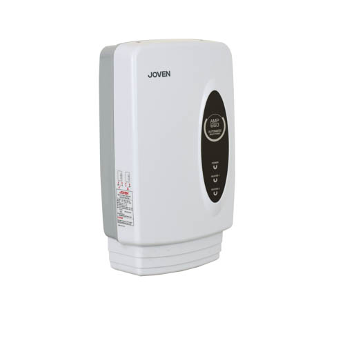 JOVEN Instant Water Heater  • 6.6kw white tankless multi-point • Automated differential flow switch • Safety thermal cut-out • Plumbing cover • Splash proof casting ip25 • Iso 9001 certified Code: AMP660